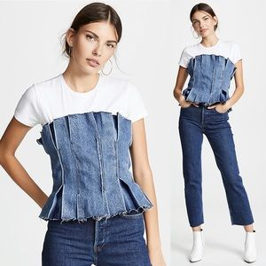 LEVI'S Made & Crafted Distressed Denim Corset